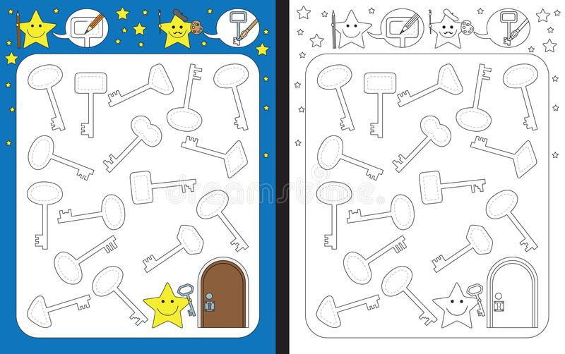 Рабочее лист Preschool бесплатная иллюстрация