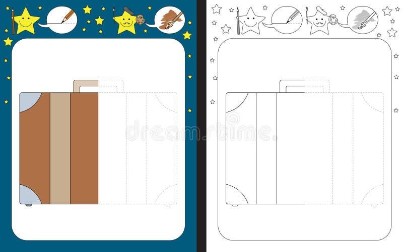 Рабочее лист Preschool иллюстрация штока