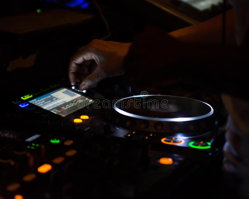 Рабочее место Turntable DJ стоковое фото