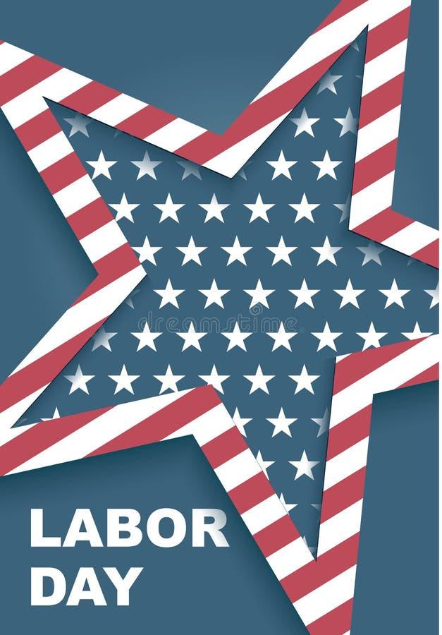 Рабочий день в Америке иллюстрация штока