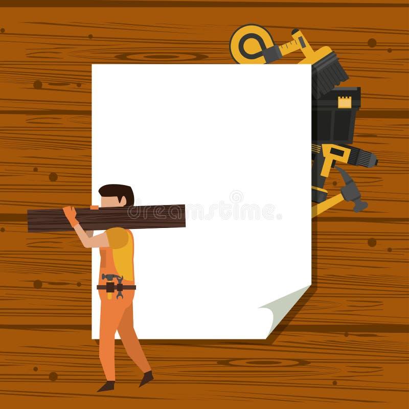 Рабочий-строители и инструменты бесплатная иллюстрация