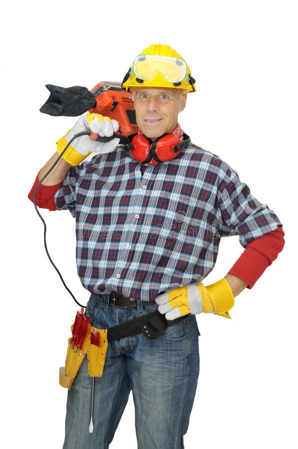 рабочий-строитель стоковое изображение