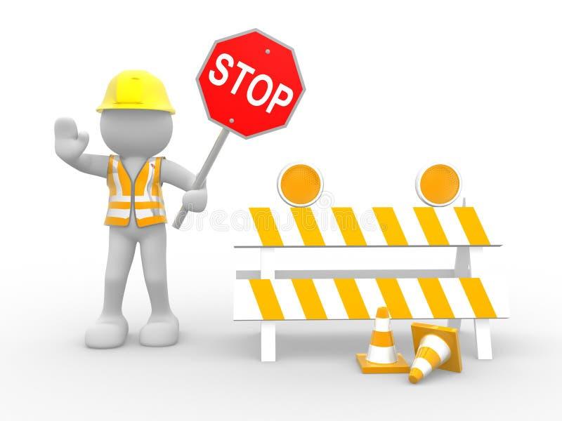 рабочий-строитель иллюстрация вектора