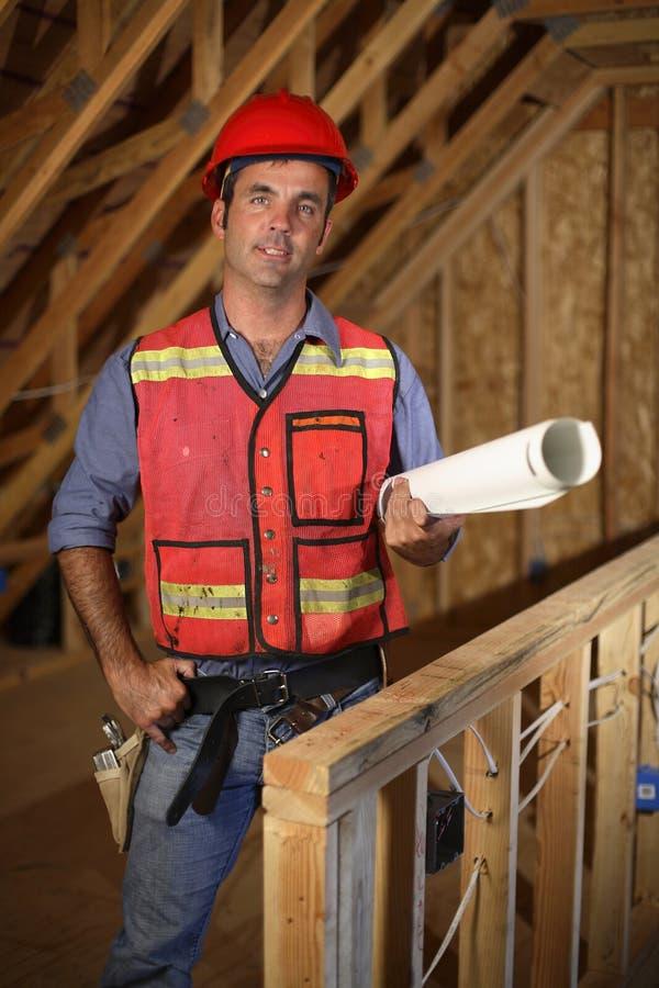 рабочий-строитель стоковое изображение rf