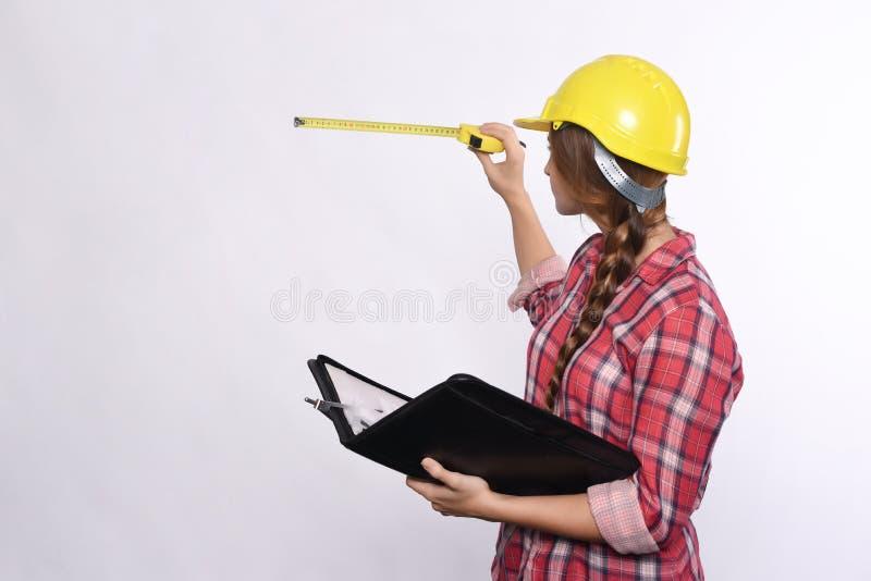 Рабочий-строитель женщины стоковые фото