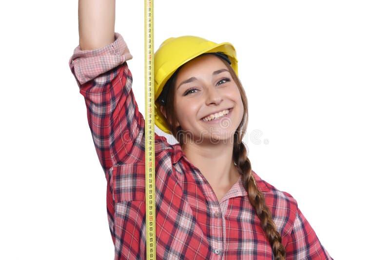 Рабочий-строитель женщины стоковые фотографии rf