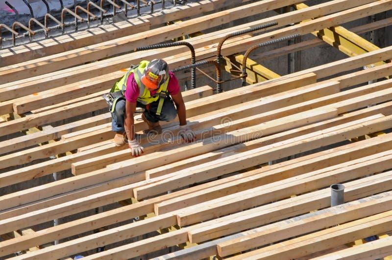 Рабочий-строитель, Нью-Йорк стоковая фотография rf