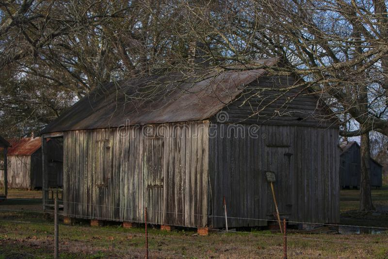 Рабские кварталы на сахарной плантации в долине Лорел стоковые изображения