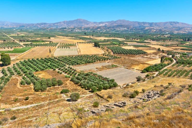 Равнина Messara Крит Греция стоковая фотография rf