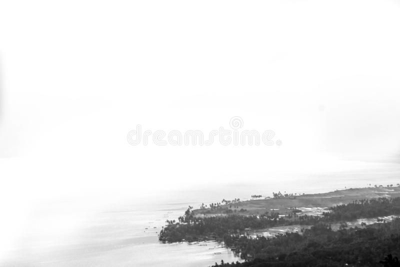 Равнины берега озера на singkarak озера стоковая фотография