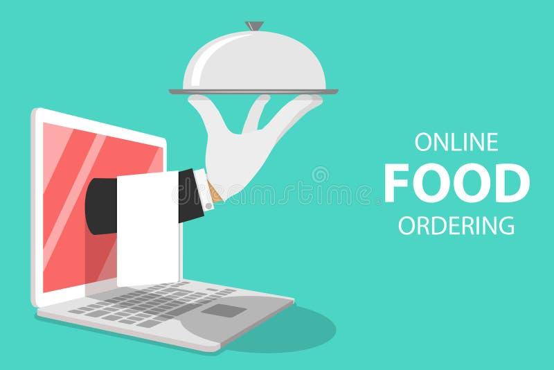 Равновеликая плоская концепция вектора для онлайн приказывать еды бесплатная иллюстрация
