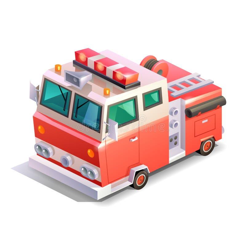 Равновеликая пожарная машина иллюстрация штока