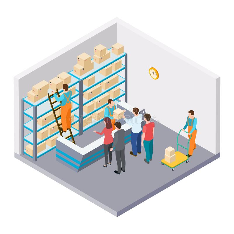 Равновеликая почта, доставка концепции вектора пакетов бесплатная иллюстрация