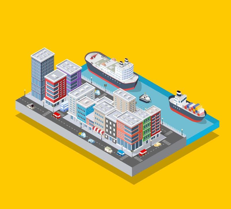 Равновеликий городской квартал иллюстрация вектора