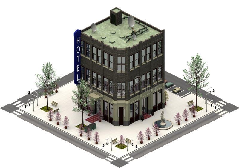Равновеликие здания города, роскошная гостиница перевод 3d иллюстрация штока