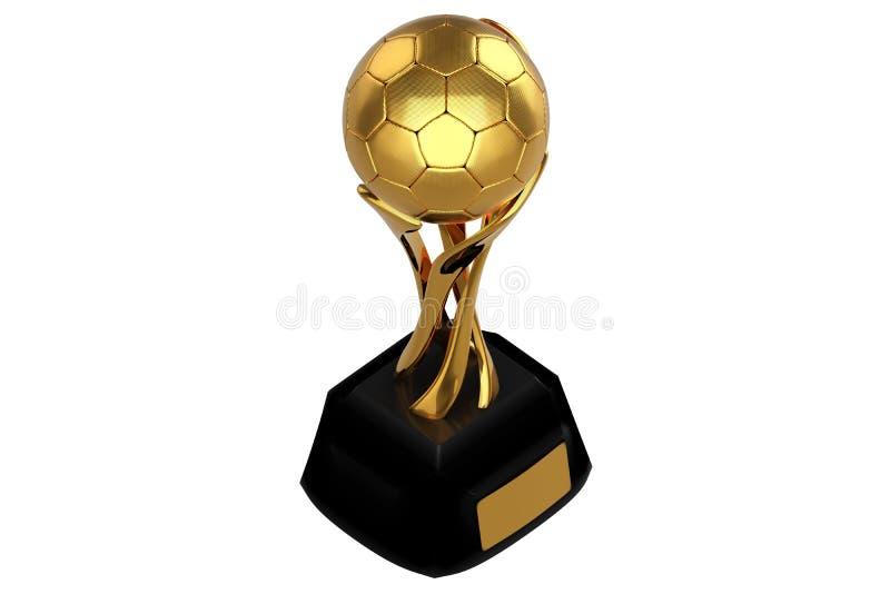 равновеликий дизайн концепции перевода 3d золотого tro футбола бесплатная иллюстрация
