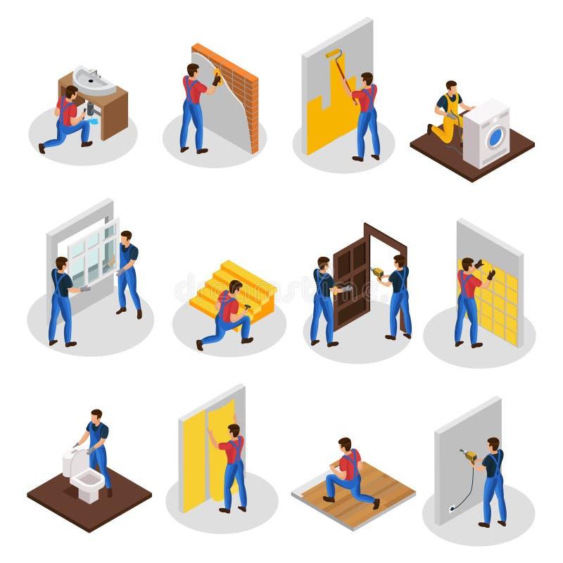 Равновеликий домашний комплект ремонта иллюстрация штока