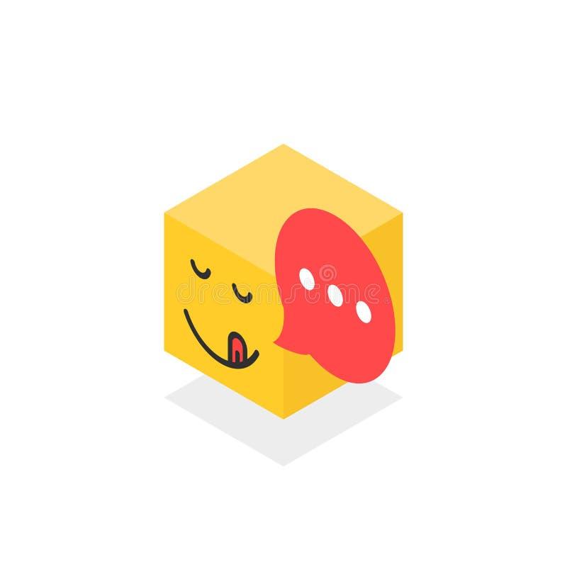 Равновеликий изысканный значок любит сторона emoji на белизне бесплатная иллюстрация