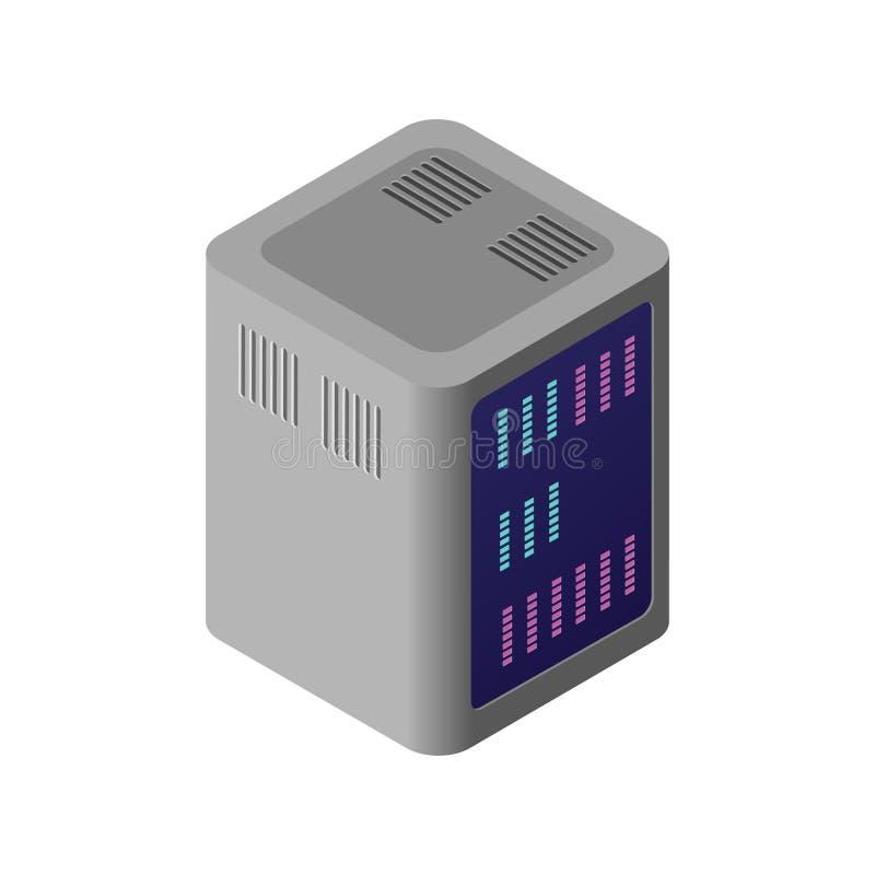 Равновеликий компьютер 3D иллюстрация штока