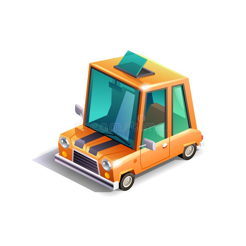 Равновеликий мини автомобиль иллюстрация вектора