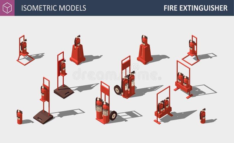 Равновеликий огнетушитель - установите оборудования для обеспечения безопасности также вектор иллюстрации притяжки corel бесплатная иллюстрация