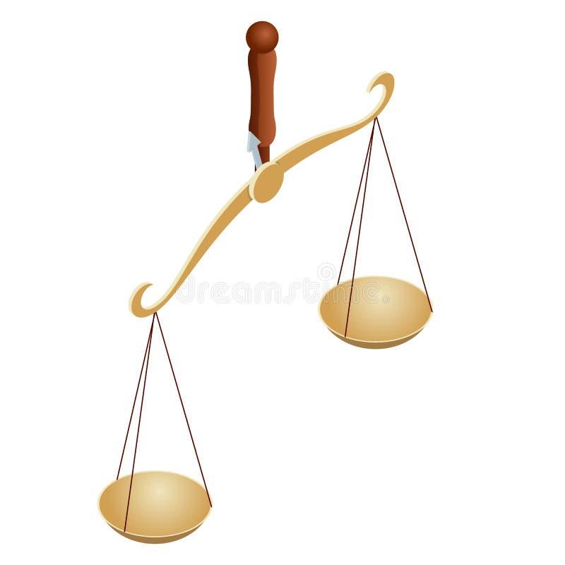 Равновеликий символ закона и правосудия, закон и правосудие, законные, законоведение libra Шары масштабов в балансе, иллюстрация вектора