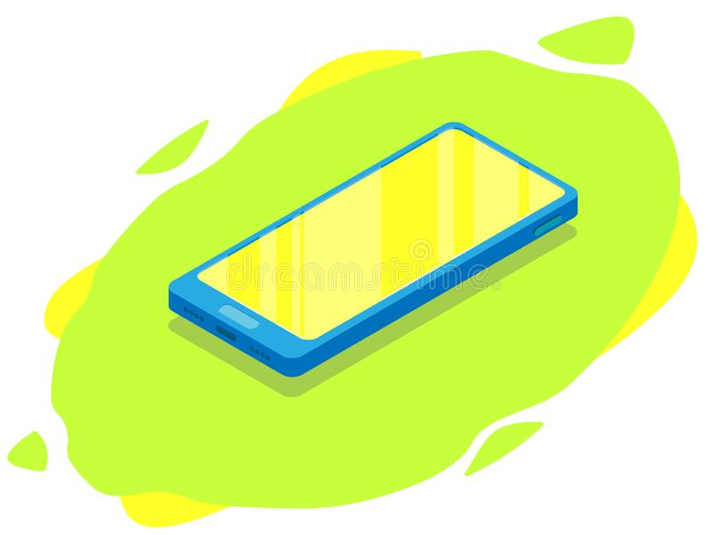 Равновеликий современный телефон Насмешка вверх по черни бесплатная иллюстрация