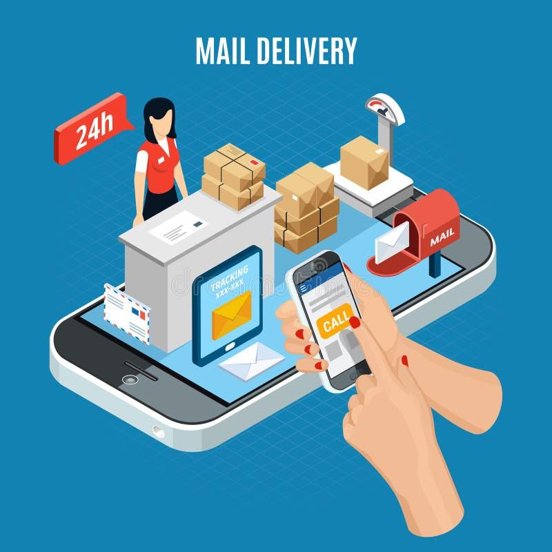 Равновеликий состав доставки почты бесплатная иллюстрация