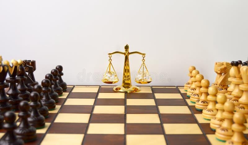 Равновесие сил перед игрой стоковая фотография rf