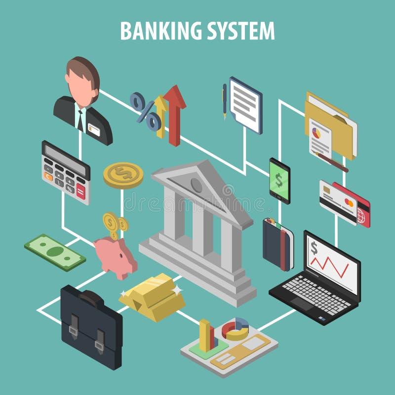 Равновеликая концепция банка иллюстрация вектора