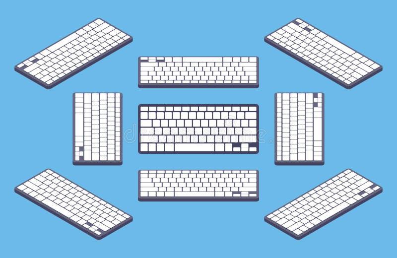 Равновеликая родовая черная клавиатура компьютера с бесплатная иллюстрация