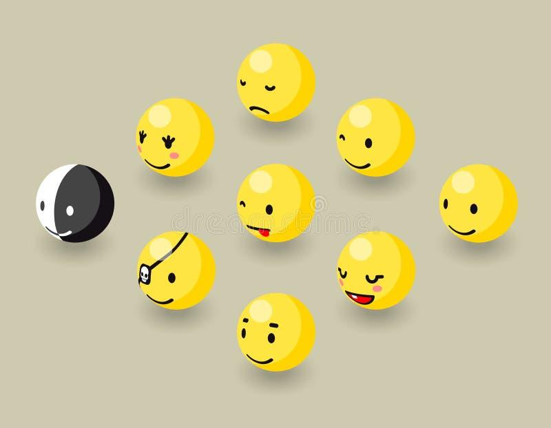 Равновеликая счастливая сторона клокочет элементы игры иллюстрация штока