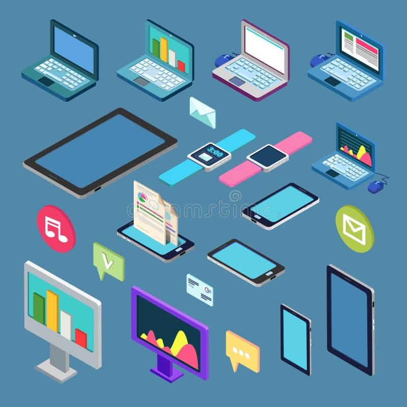 Равновеликая технология Комплект электронного устройства иллюстрация штока