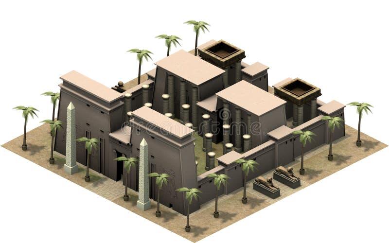 Равновеликие здания древнего египета, большого комплекса виска перевод 3d бесплатная иллюстрация