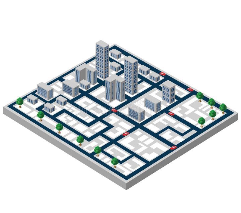 Равновеликие здания иллюстрация вектора