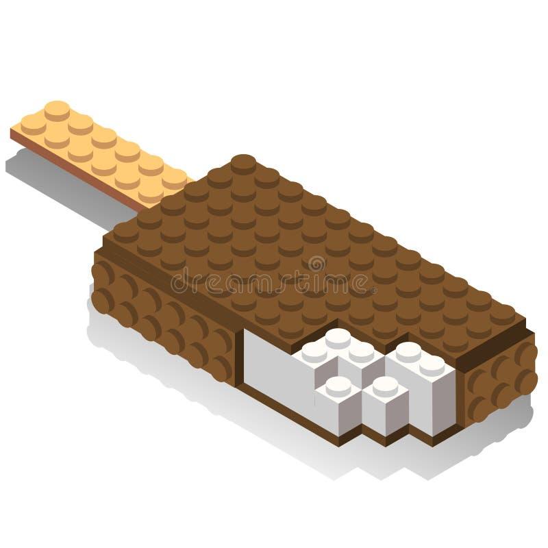 Равновеликие пластичные строительные блоки и плитки иллюстрация вектора