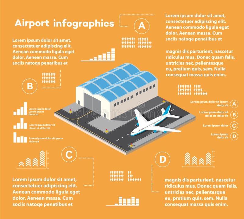 Равновеликий авиапорт города иллюстрация штока