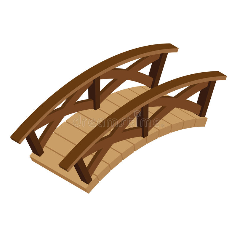 Равновеликий деревянный мост иллюстрация вектора