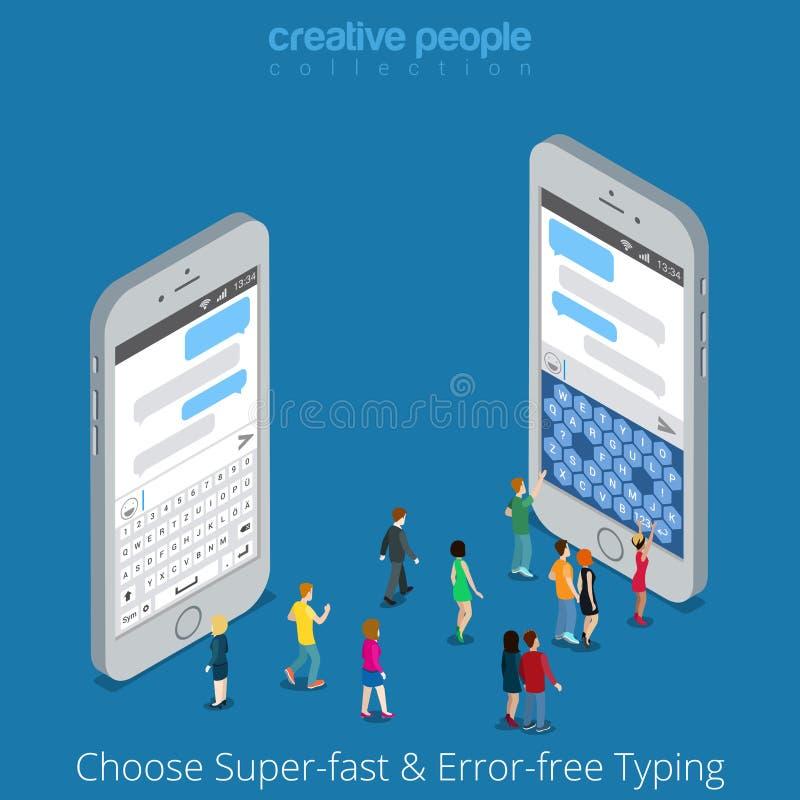 Равновеликий плоский отборный классический современный жулик экрана 3d бесплатная иллюстрация