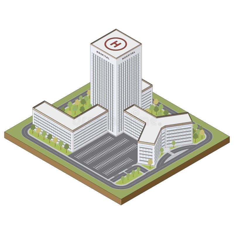 Равновеликое здание больницы иллюстрация штока