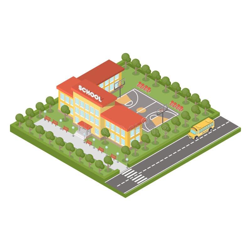 Равновеликое школьное здание бесплатная иллюстрация