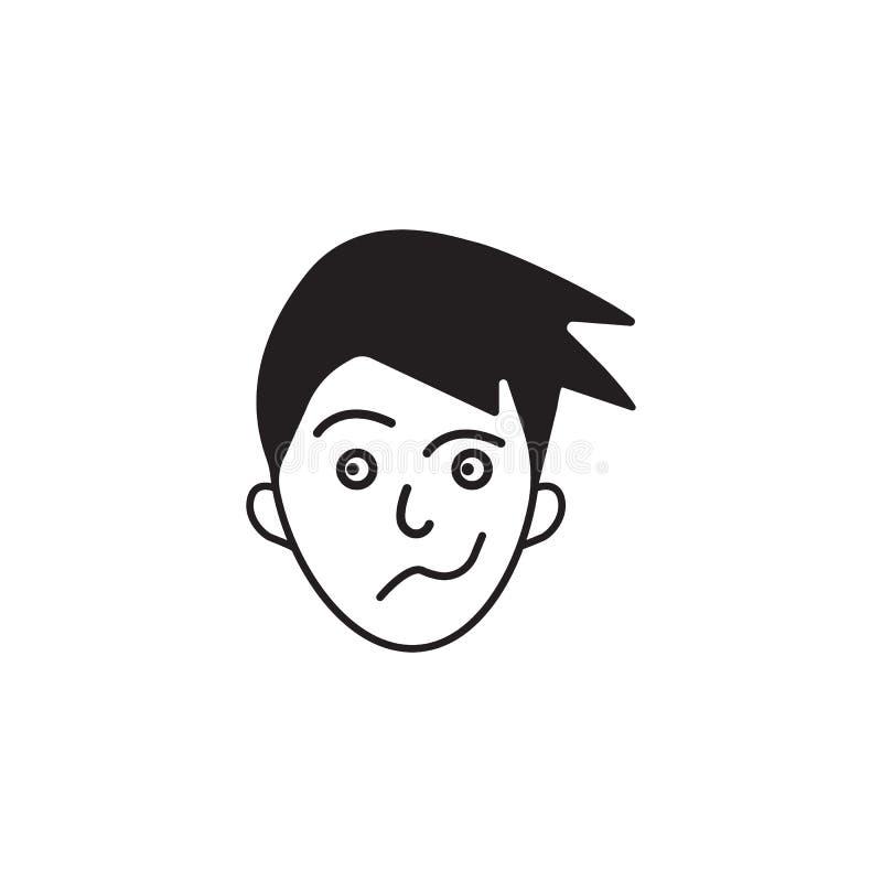 равнодушие на значке стороны Элемент человеческой иллюстрации элементов эмоций Наградной качественный значок графического дизайна бесплатная иллюстрация