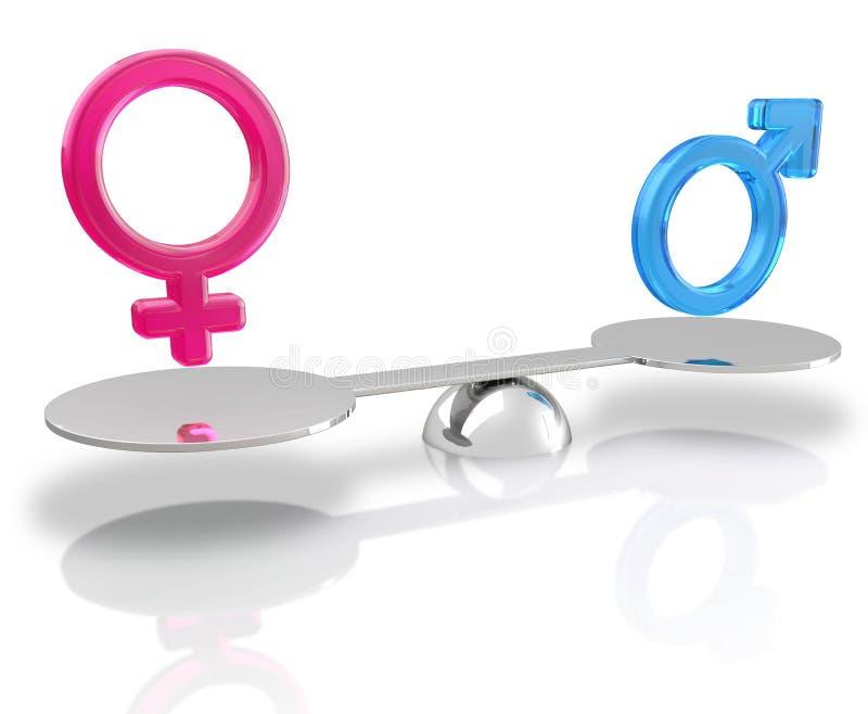 Равность секса иллюстрация вектора