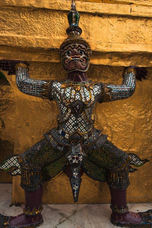 Радетель демона на Wat Phra Kaew стоковые изображения