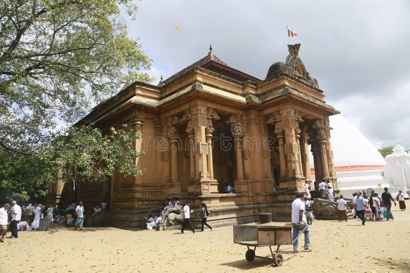 Раджа Maha Vihara Kelaniya стоковые фотографии rf