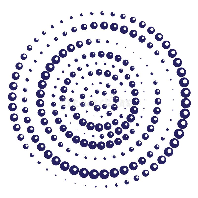Радиальная геометрическая картина точек мотива иллюстрация вектора
