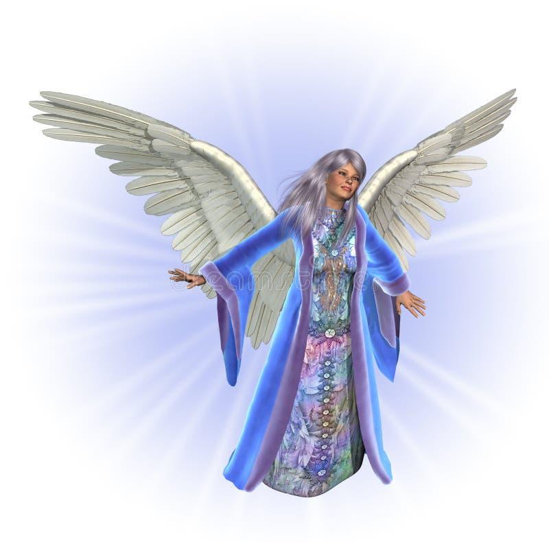 радиант предпосылки ангела счастливый иллюстрация вектора