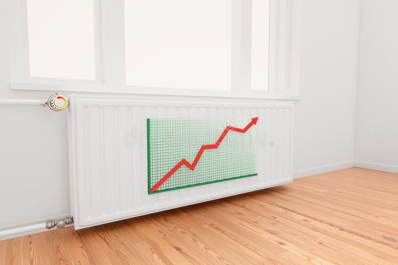 радиатор диаграммы стрелки ОНий восходящ бесплатная иллюстрация