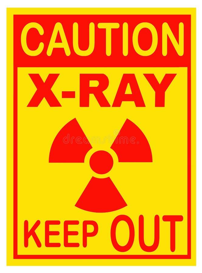Радиация, предупредительный знак рентгеновского снимка Изолировано на белизне стоковые изображения rf
