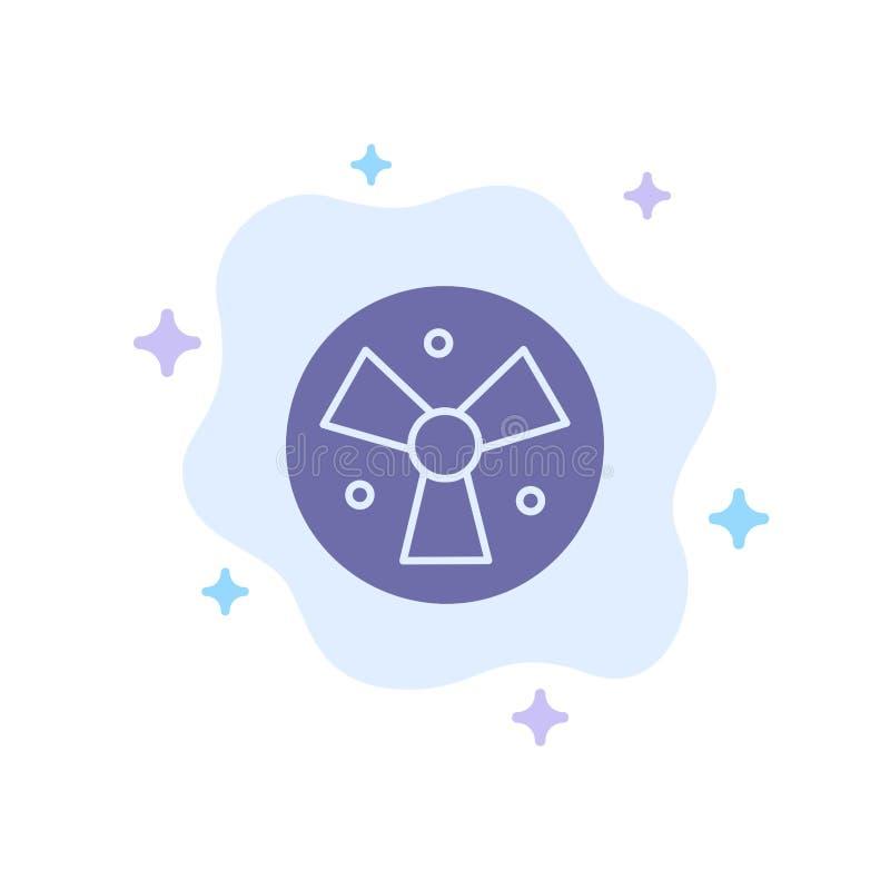 Радиация, предупреждение, медицинское, значок вентилятора голубой на абстрактной предпосылке облака бесплатная иллюстрация